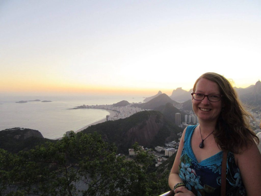 Claire in the wonderful mountains surrounding Rio in Brazil.